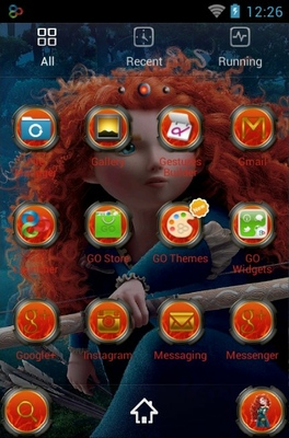 Merida android theme application menu