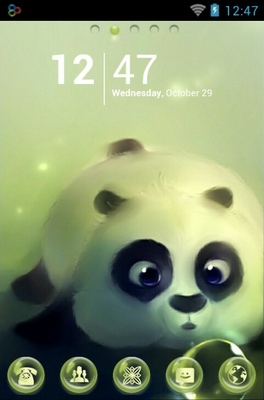 android theme 'Panda And Bubbles'