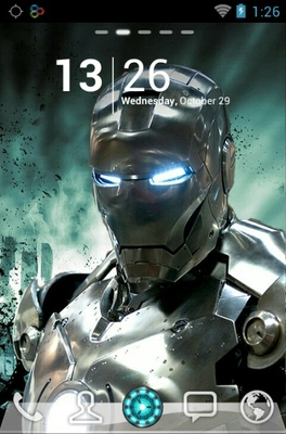 android theme 'Silver Iron Man'
