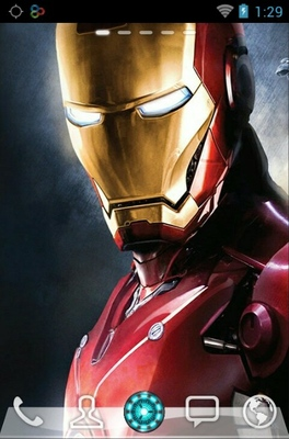 iron man go launcher theme apk