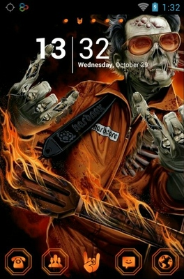 Rock Zombie android theme