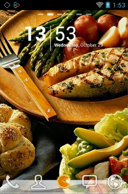android theme 'Delicious Food'
