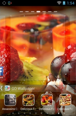 Delicious Food android theme home screen