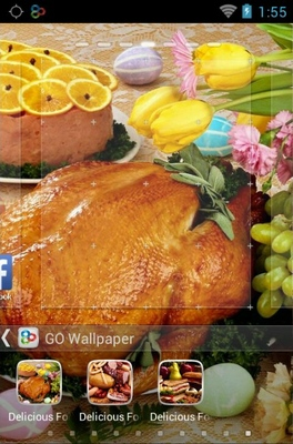 Delicious Food android theme wallpaper