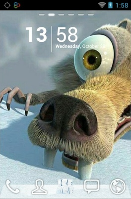 android theme 'Ice Age'