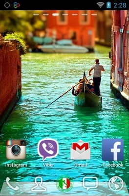 Lovely Venice android theme home screen