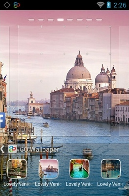 Lovely Venice android theme wallpaper