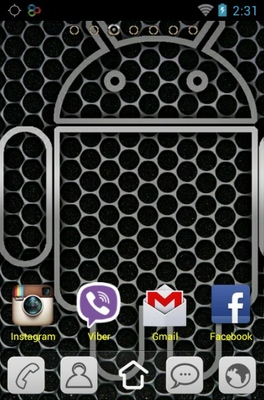 Android Silver android theme home screen
