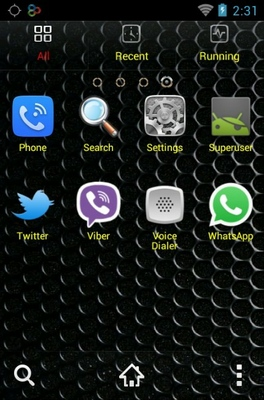 Android Silver android theme application menu