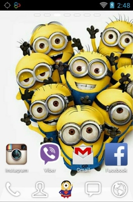 Super Hero Minions android theme home screen