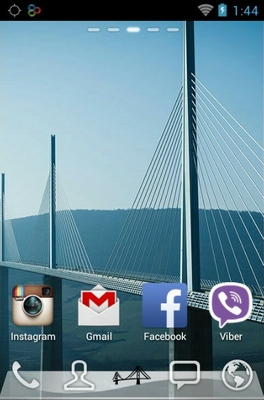 Magnificent Bridges android theme home screen