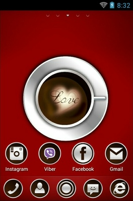 Coffe With Love android theme home screen