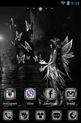 Magnetica android theme home screen