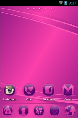PP Abstract android theme home screen