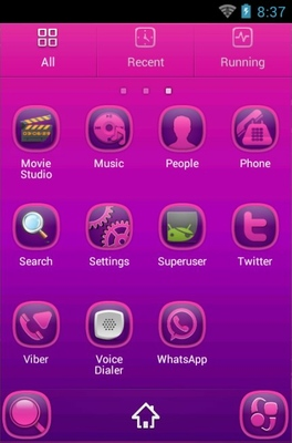 PP Abstract android theme application menu