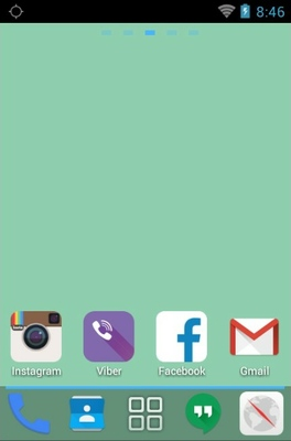 Google Android 5.0 android theme home screen
