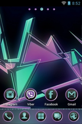 Geometric Abstraction android theme home screen