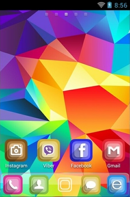Gerometrical Abstract android theme home screen