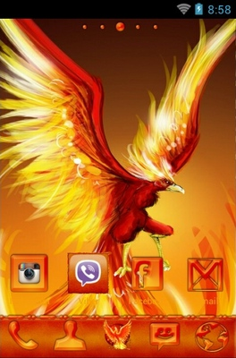 Phoenix android theme home screen