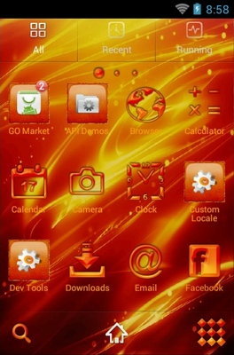 Phoenix android theme application menu