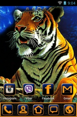 Tiger android theme home screen