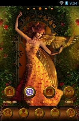 Fairy's Dream android theme home screen