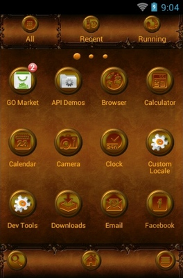 Fairy's Dream android theme application menu