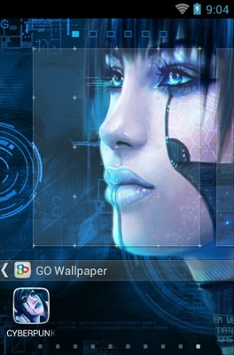 Cyberpunk android theme wallpaper