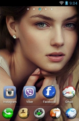 Little Caprice android theme home screen