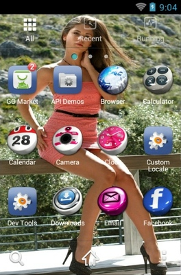 Little Caprice android theme application menu