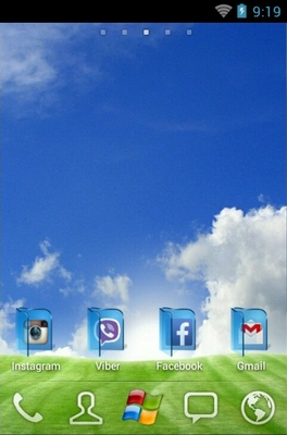 Rujak android theme home screen