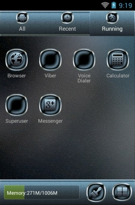 Science Fiction android theme application menu