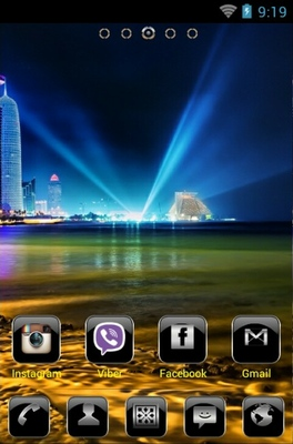 Tech City android theme home screen