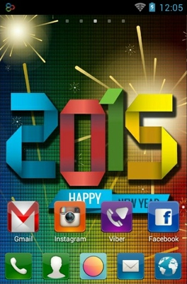 Holidays 2015 android theme home screen