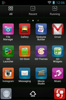 Holidays 2015 android theme application menu