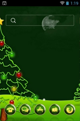 Christmas android theme home screen
