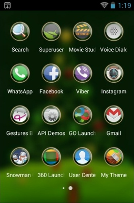 Christmas android theme application menu