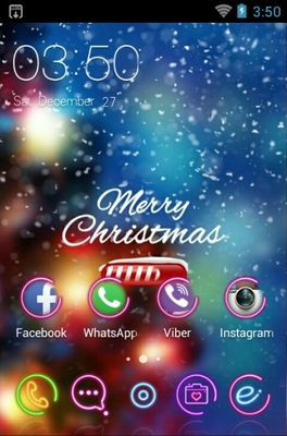 Christmas Loading android theme home screen