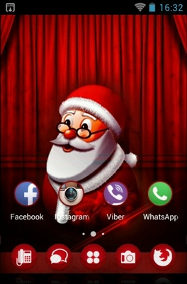Santa Claus android theme home screen