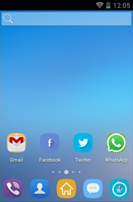 Flat android theme home screen