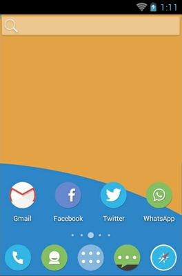 Circle android theme home screen