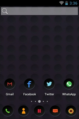 Cool android theme home screen