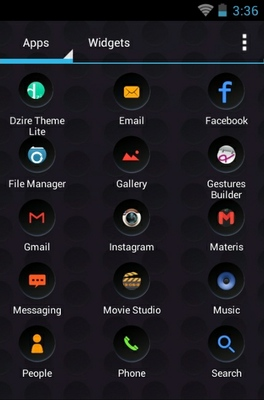 Cool android theme application menu