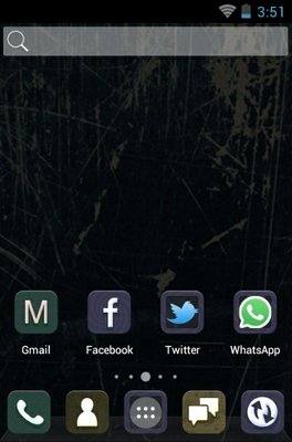 Raw Vintage android theme home screen