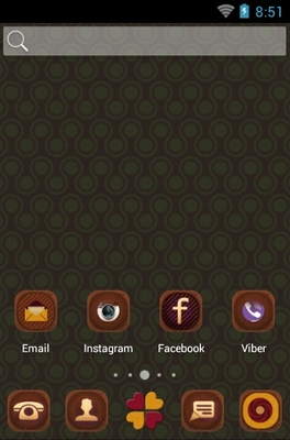 Retro Style android theme home screen