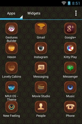 Retro Style android theme application menu