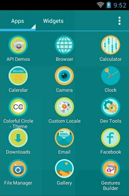 Windmill android theme application menu