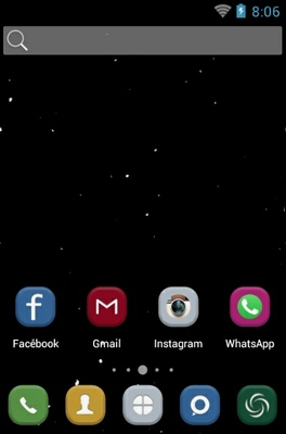 Little Universe android theme home screen