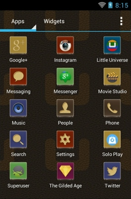 The Gilded Age android theme application menu