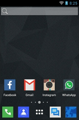 Toros Squire android theme home screen